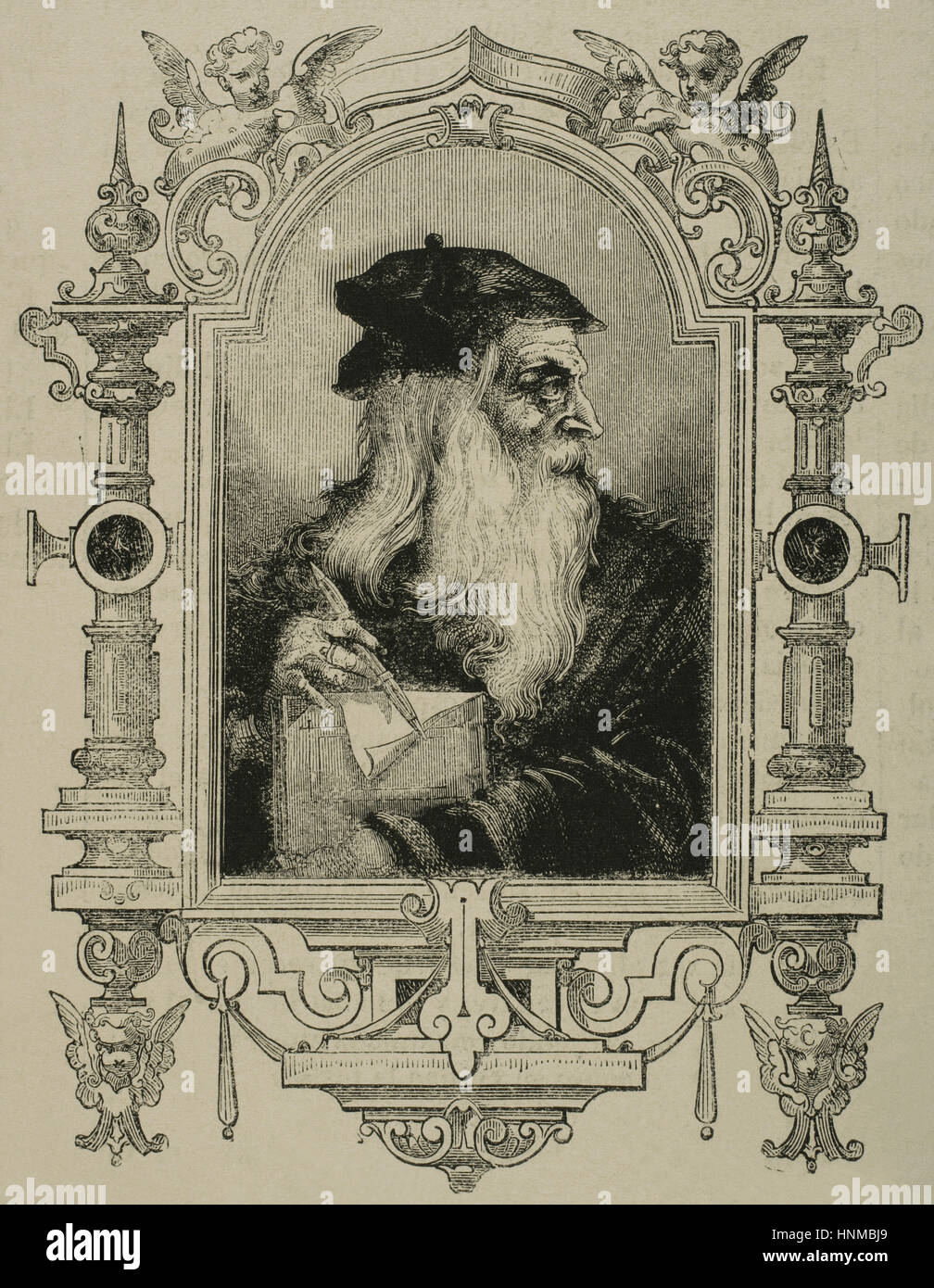 Leonardo da Vinci (1452-1519). Italienischer Universalgelehrter ...