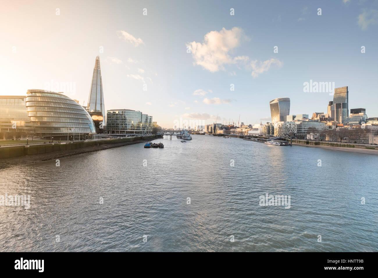 Ein Stadtbild von London, England, einschließlich der Entwicklung mehr London. Stockbild