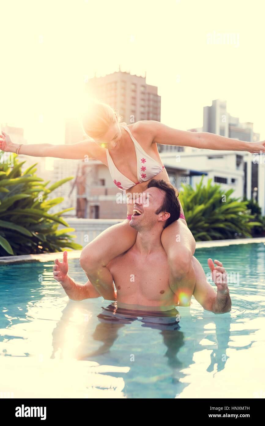 Paar Liebhaber Aktivität Glück Lifestyle Stockbild