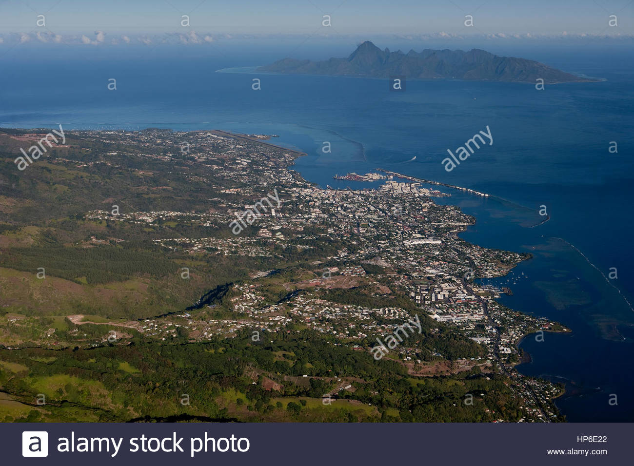 aerial tahiti stockfotos aerial tahiti bilder alamy. Black Bedroom Furniture Sets. Home Design Ideas