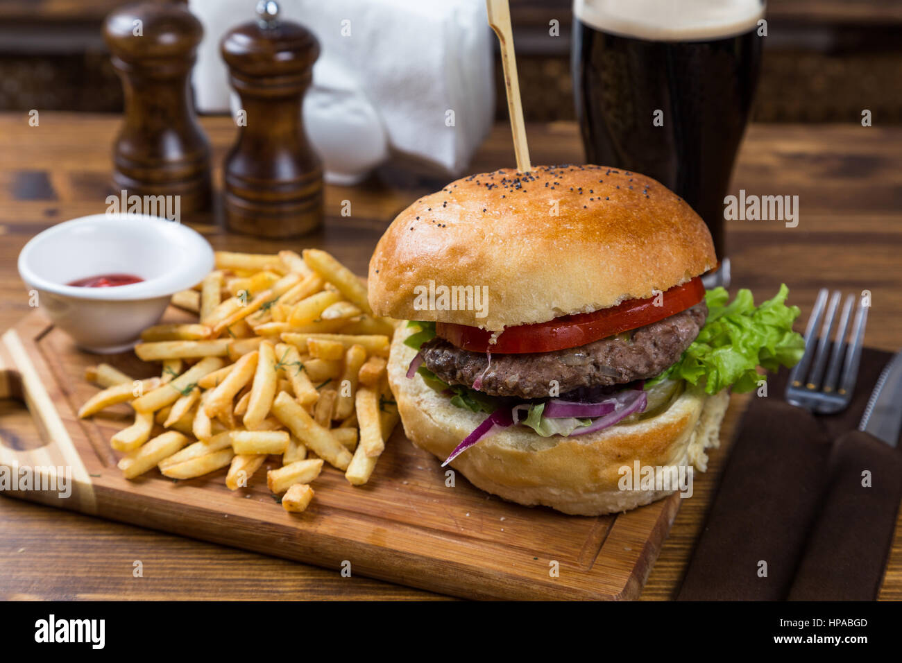Huhn oder Pelz Burger