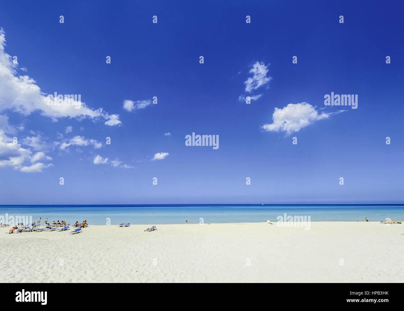 Dem Strand in der Karibik Stockbild
