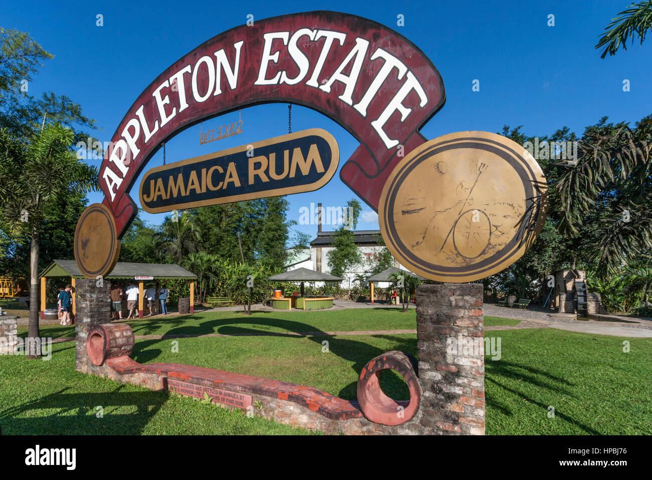 Jamaika Appleton Estate Jamaika Rum-Fabrik Bezirk St. Elisabeth Stockbild