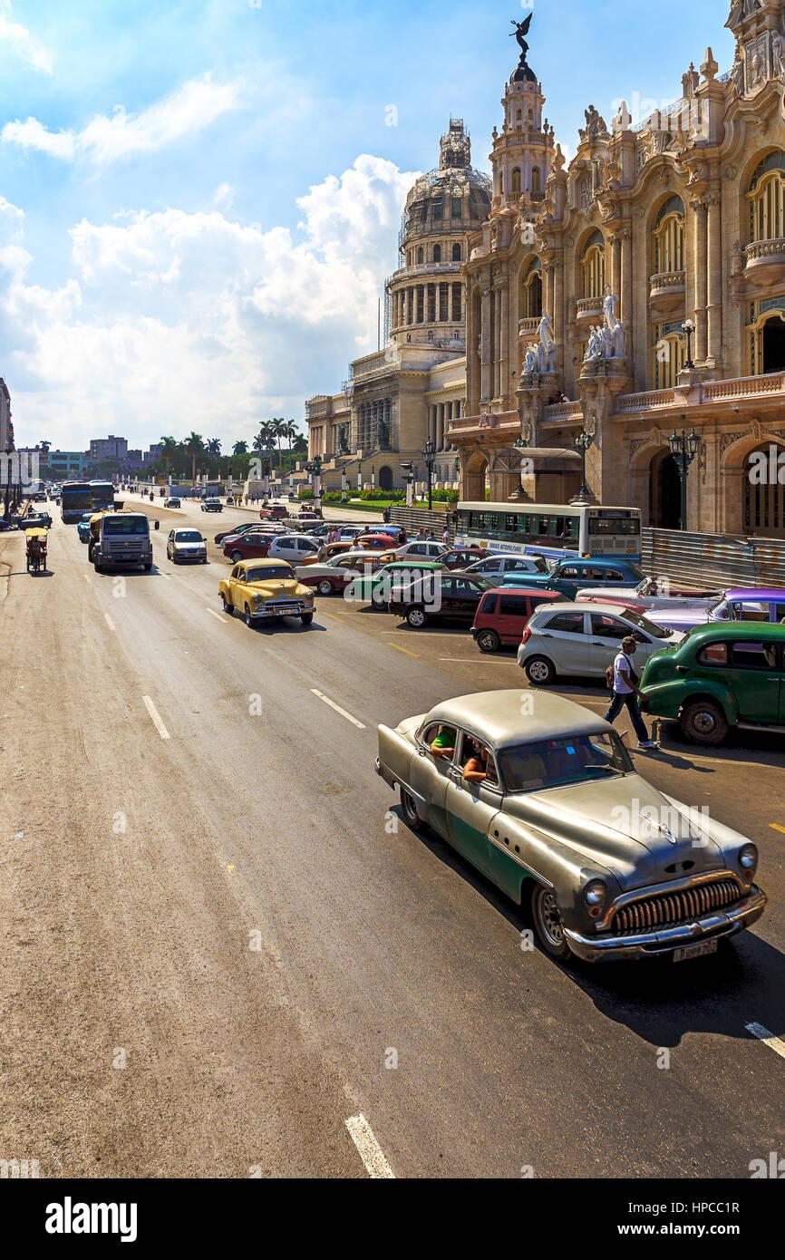 Oldtimer in Havanna, die Hauptstadt von Kuba Stockbild