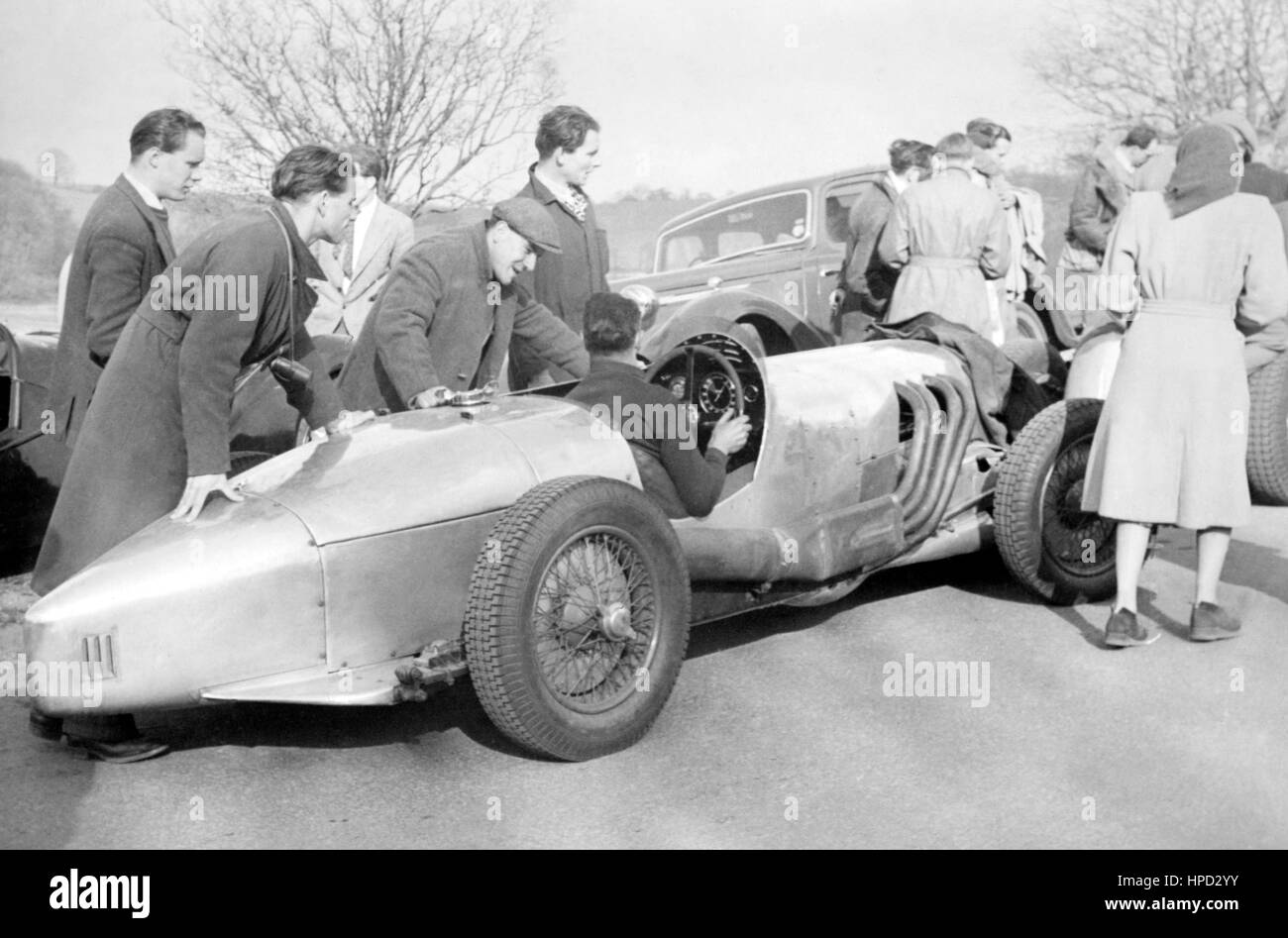 1950er Jahre Sport besondere Start Prescott Stockbild