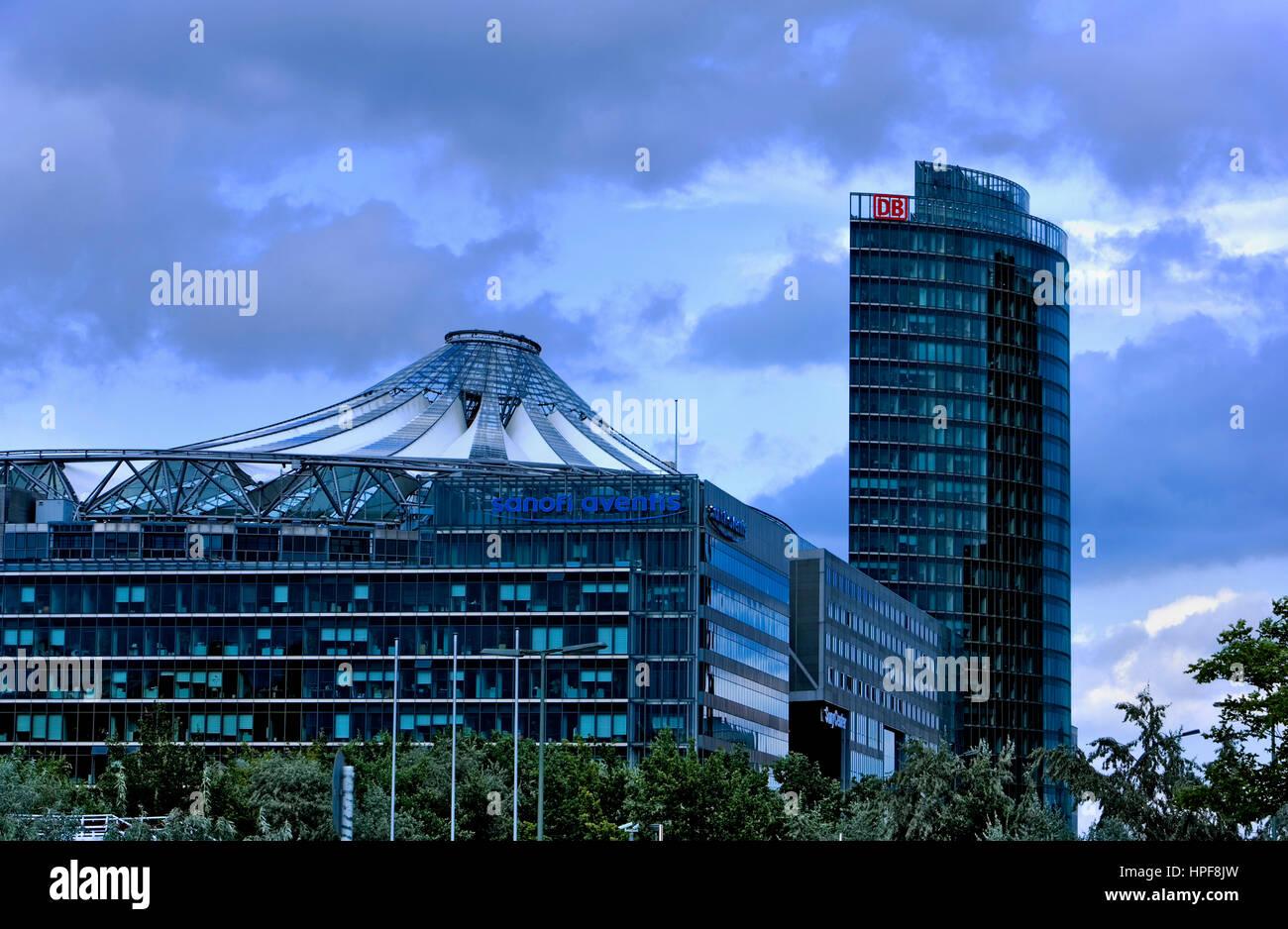 Sony Center und die Deutsche Bahn Gebäude. Berlin. Deutschland Stockbild