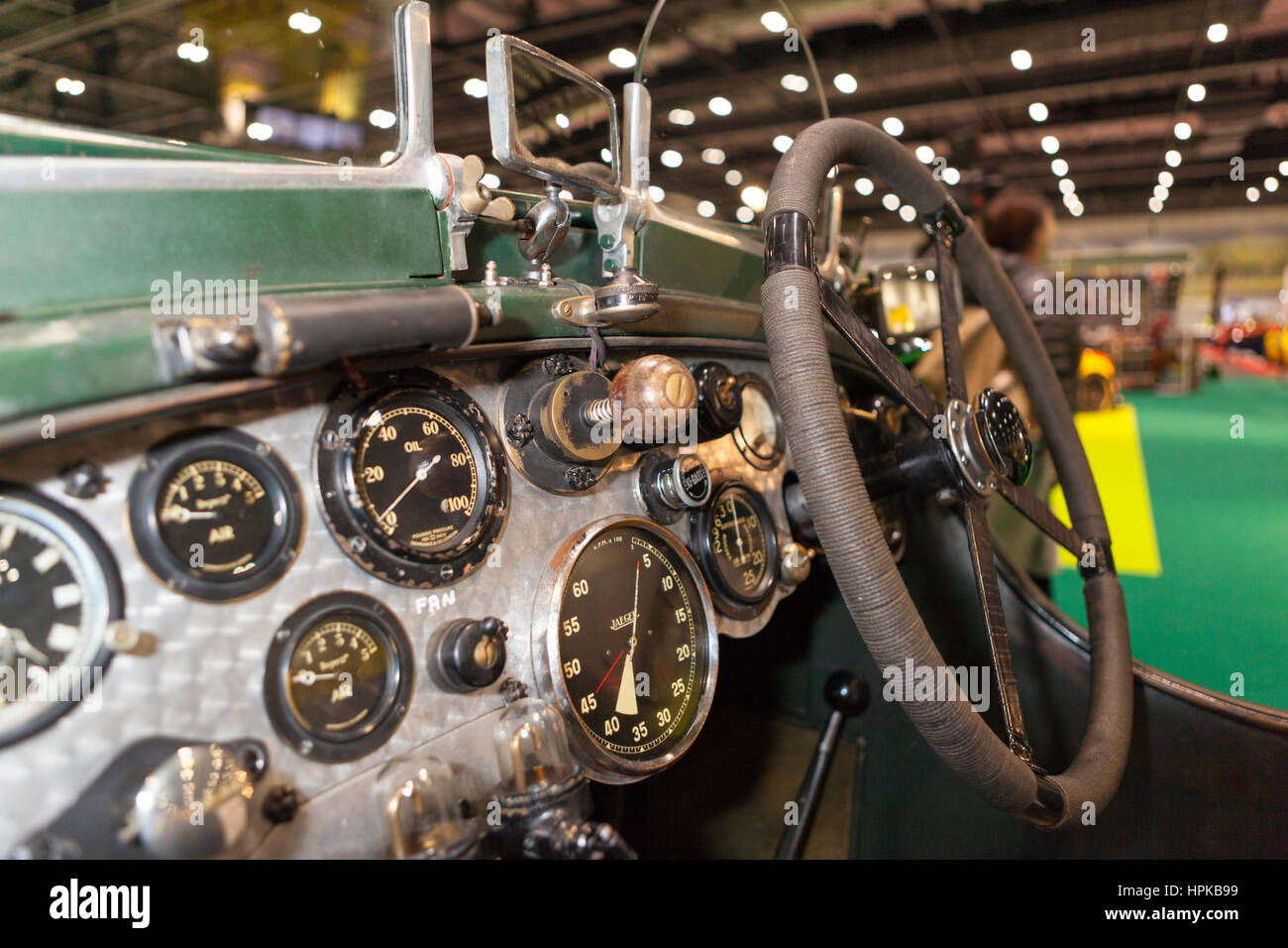 London, UK. 23. Februar 2017.  Le-Mans-Legende Jacky Ickx eröffnet ersten historischen Motorsport zeigen. ExCel, Stockbild