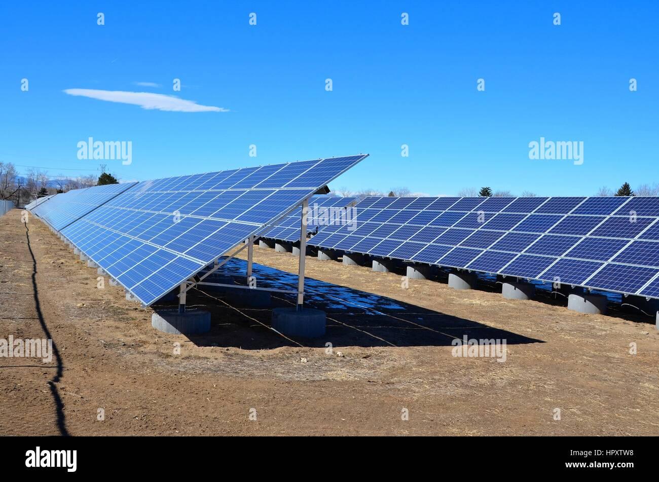 Solar-Panels Stockbild