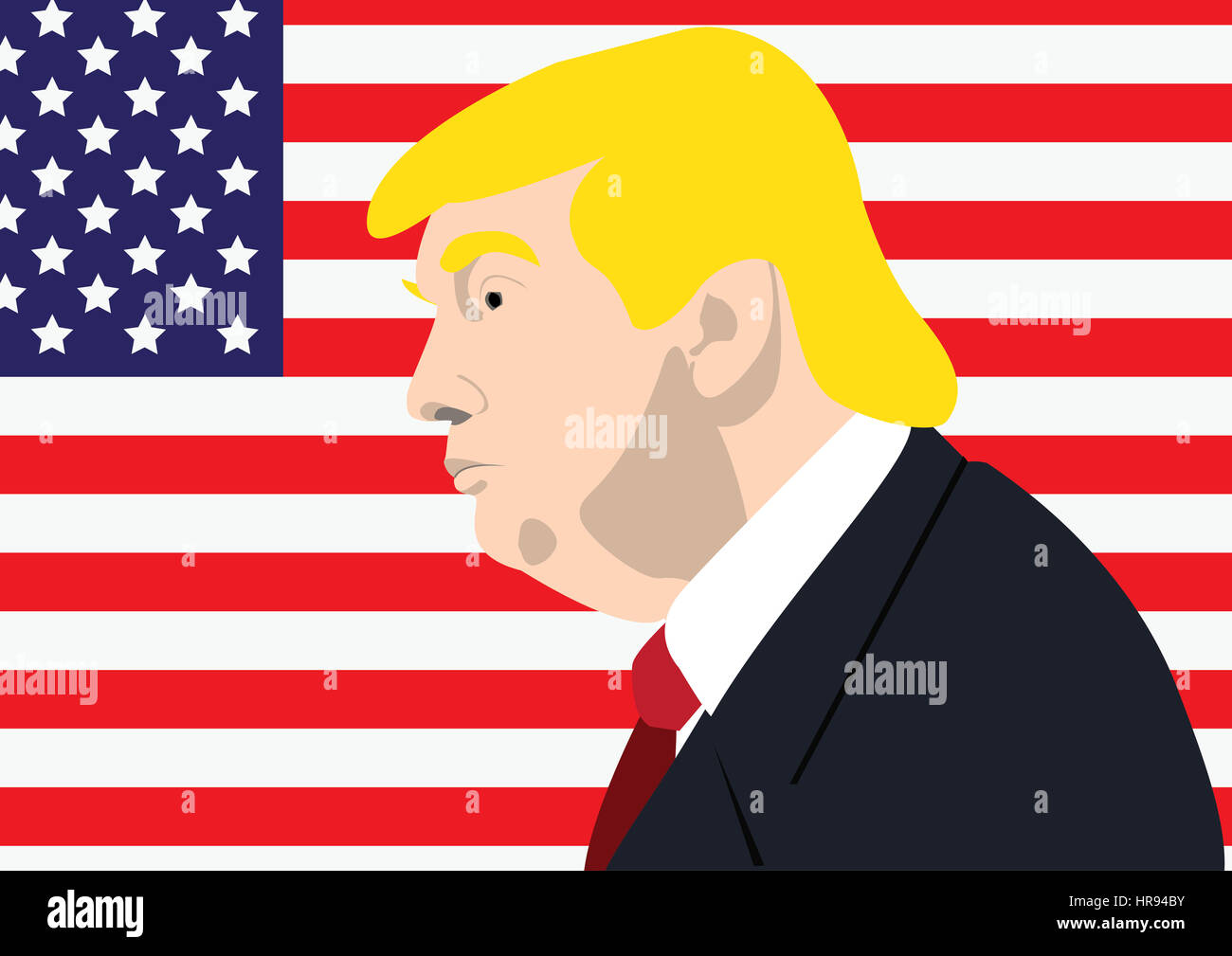 Donald Trump, Präsident der USA Stockbild