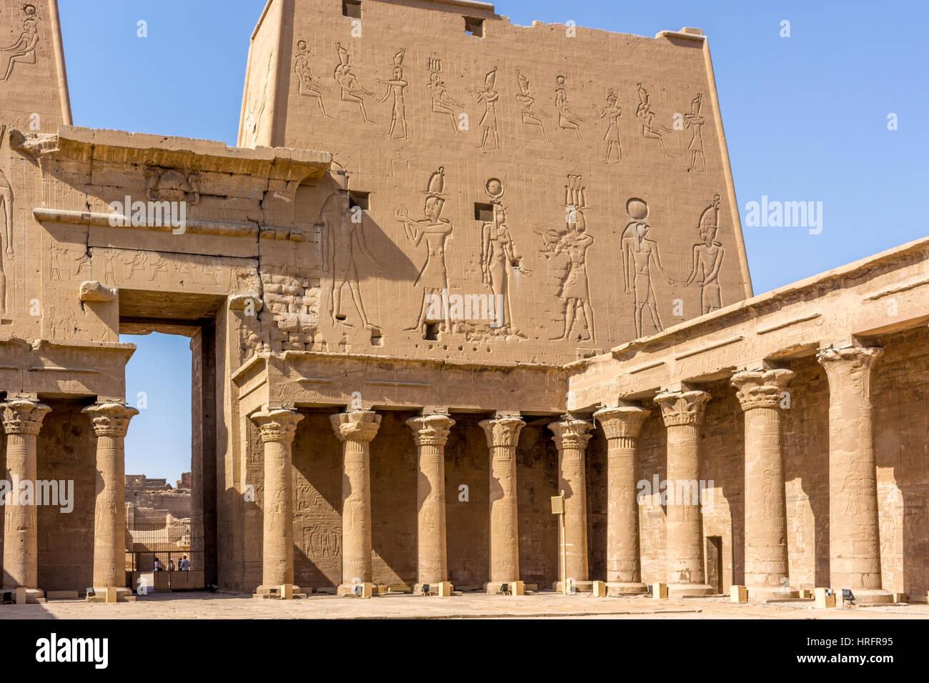 Hieroglyphen Stockbild