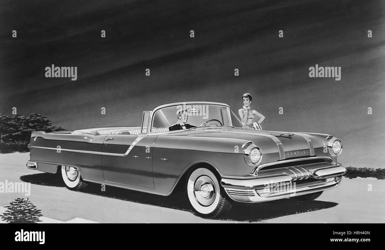 1955 Pontiac Star Chief Cabrio Stockbild