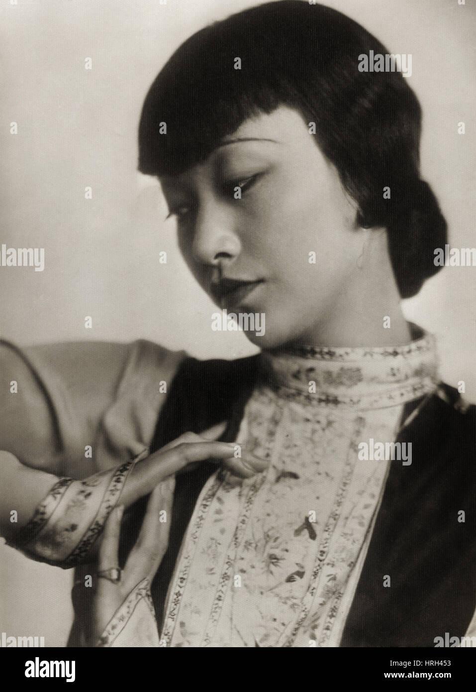 Anna kann Wong, chinesisch-amerikanischen Filmstar Stockbild