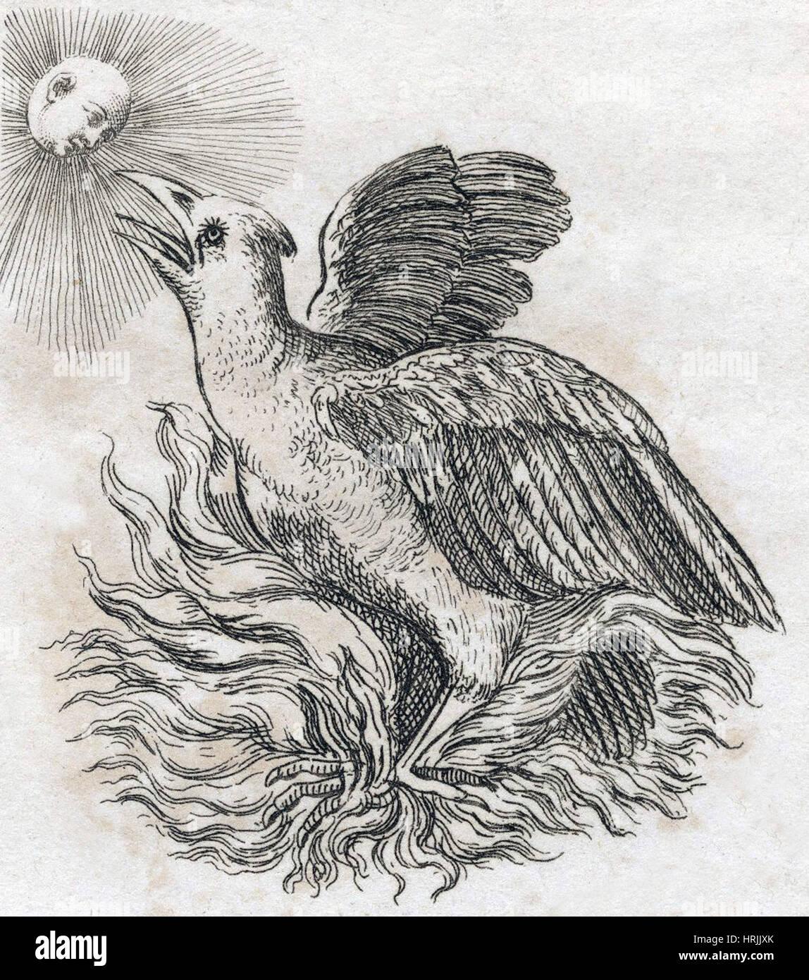 Phoenix, legendäre Kreatur Stockbild