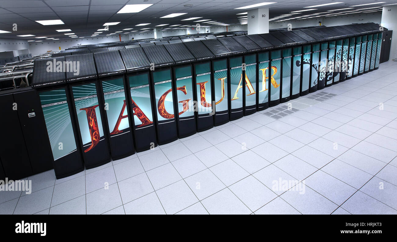 JAGUAR-Supercomputer, ORNL, 2008 Stockbild