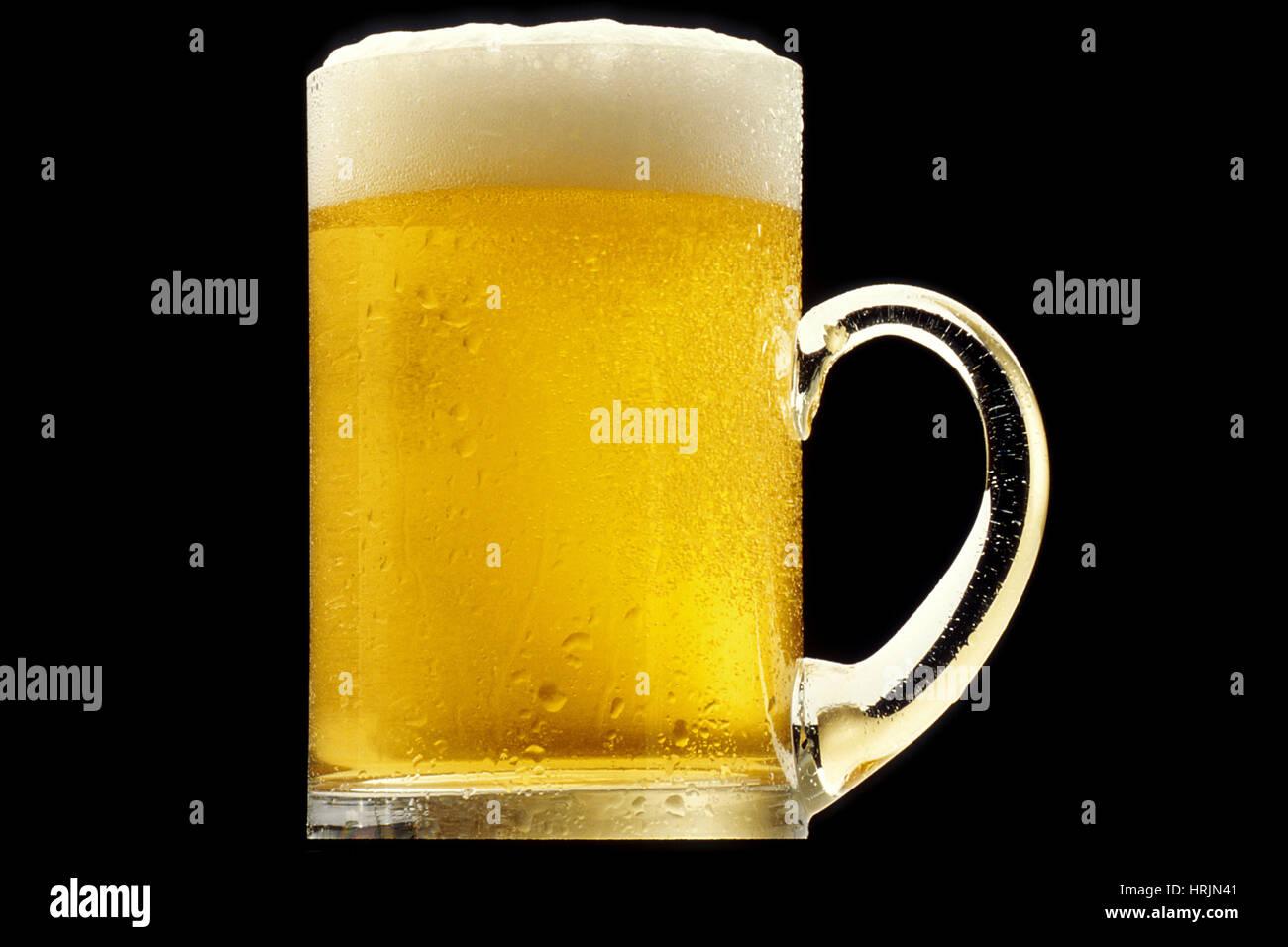 Alkoholisches Getränk, Krug Bier Stockbild