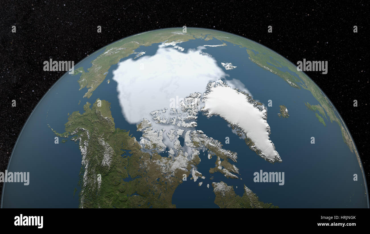 Minimum Polarfront, 1997 Stockbild