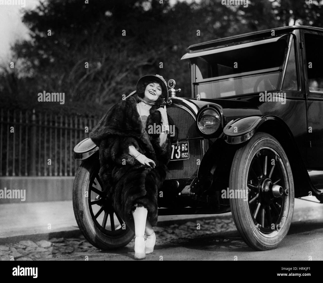 Hope Hampton, amerikanischer Stummfilmstar Stockbild