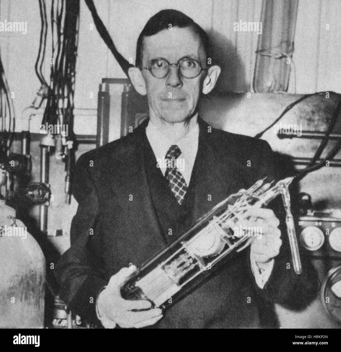 Clinton Joseph Davisson, US-amerikanischer Physiker Stockbild