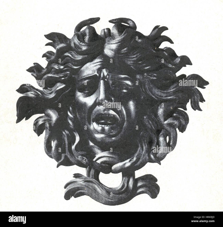 Medusa, legendäre Kreatur Stockbild