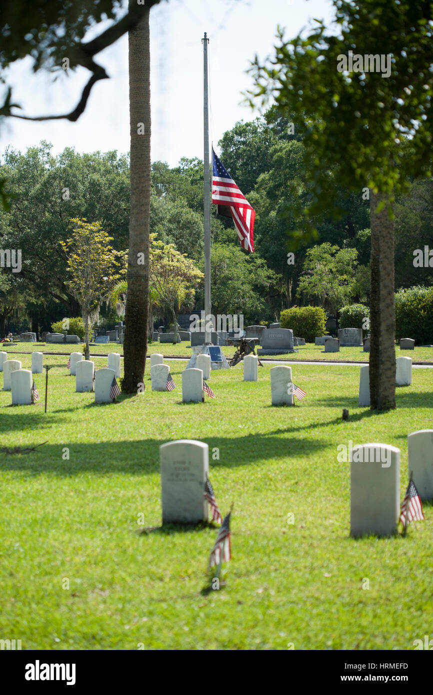 Greenwood Cemetery in Orlando, Florida, Memorial Day. Stockbild