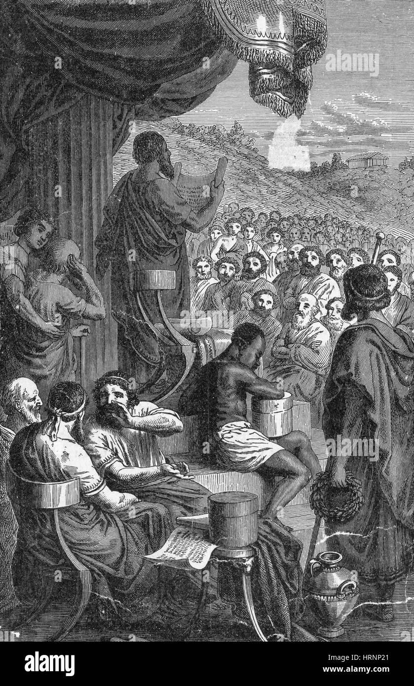 Herodot, antiken griechischen Historiker, Vater der Geschichte Stockbild