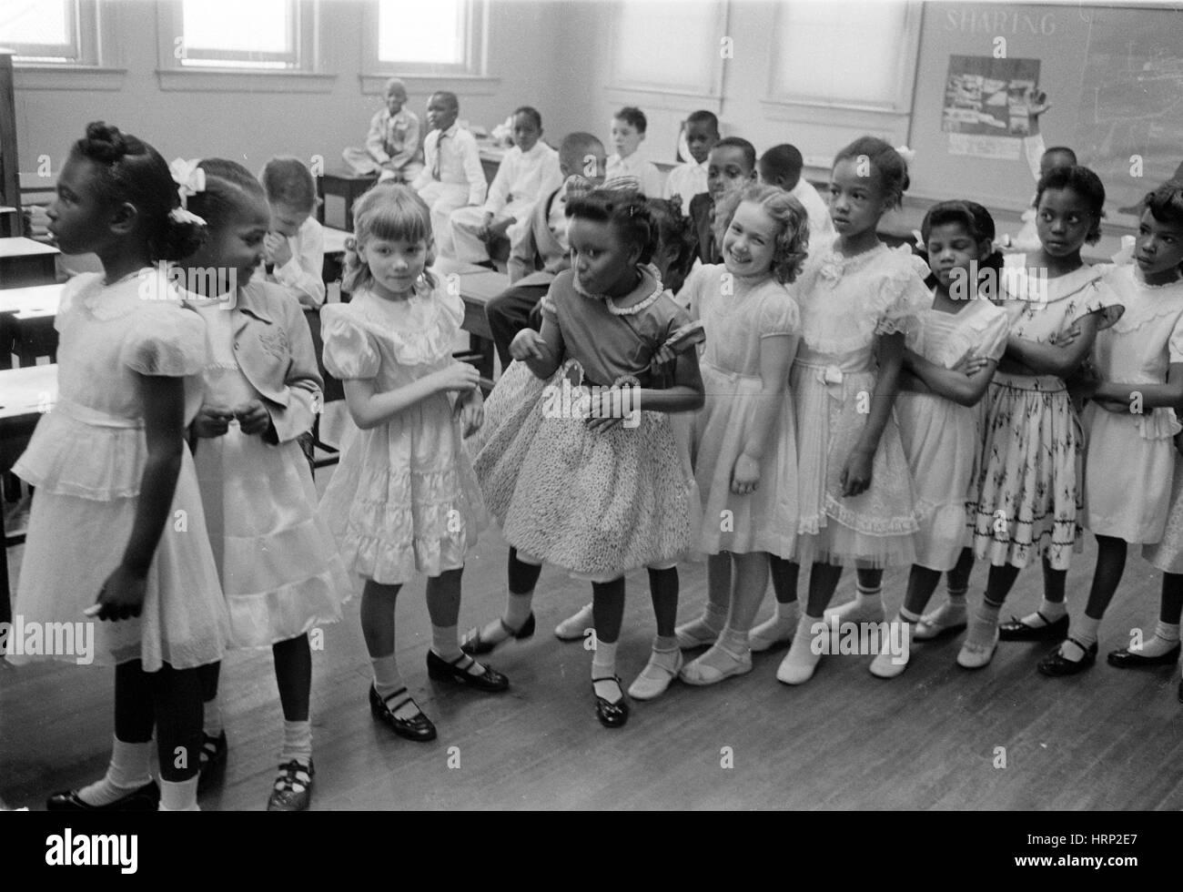 Integrierte Schule, Washington DC, 1955 Stockbild