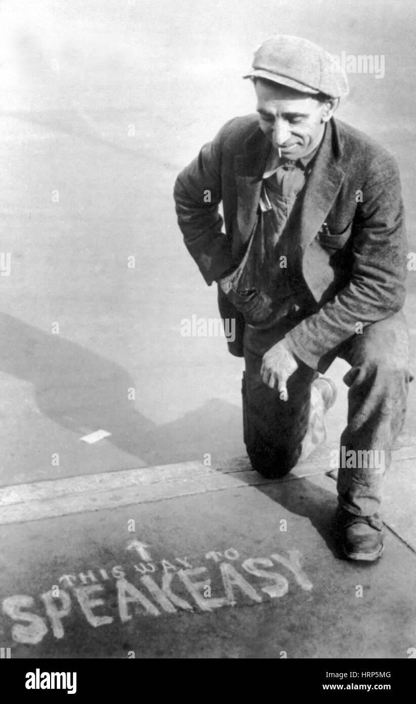 Verbot, Speakeasy Richtungen der 1920er Jahre der 30er Jahre Stockbild
