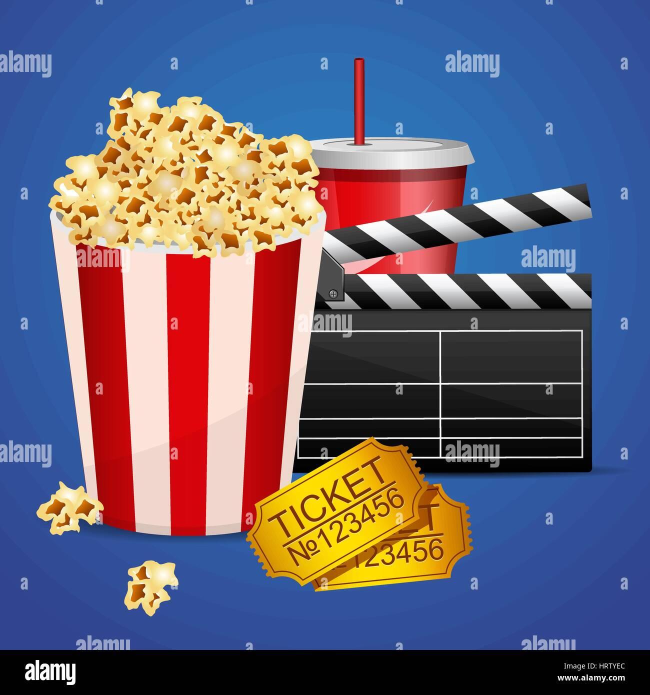 Realistische Kino-Film-Plakat-Vorlage mit Film Klöppel ...
