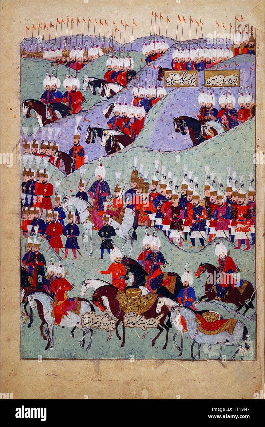 Beerdigung von Sultan Süleyman dem prächtigen. (Geschichte der Sultan Süleyman), 1579. Künstler: Stockbild