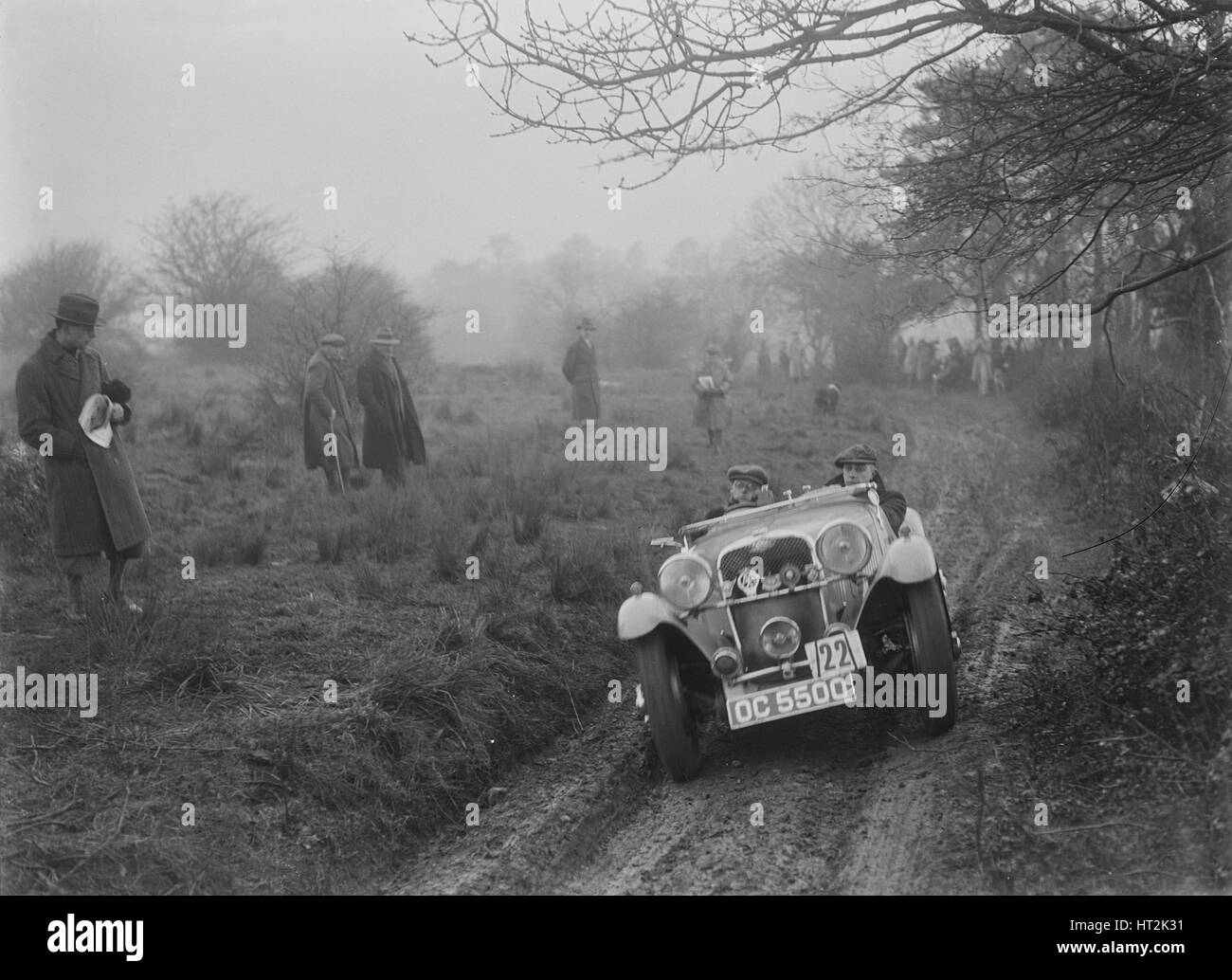 Sänger von JAM Patrick am Sunbac Colmore Versuch, in der Nähe von Winchcombe, Gloucestershire, 1934. Künstler: Stockbild