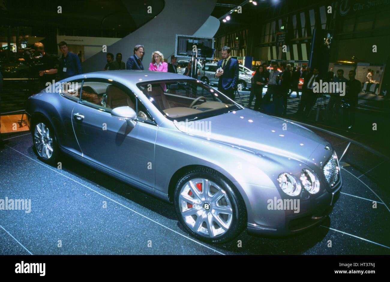 2002 Bentley Continental GT bei NEC Motor Show. Künstler: unbekannt. Stockbild