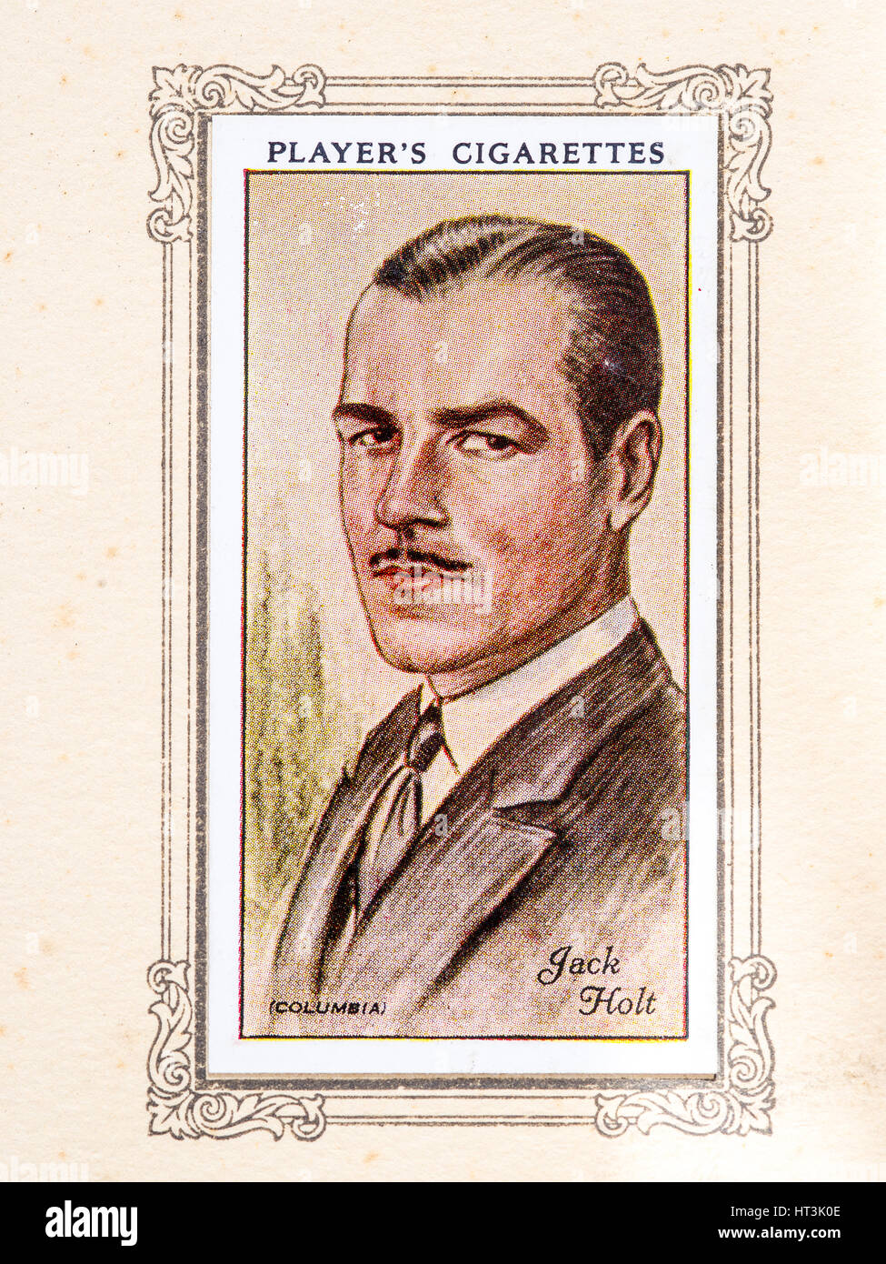 Jack Holt, 1934. Charles John Jack Holt Jr. (31. Mai 1888 - 18. Januar 1951) war ein amerikanischer Film Schauspieler Stockbild