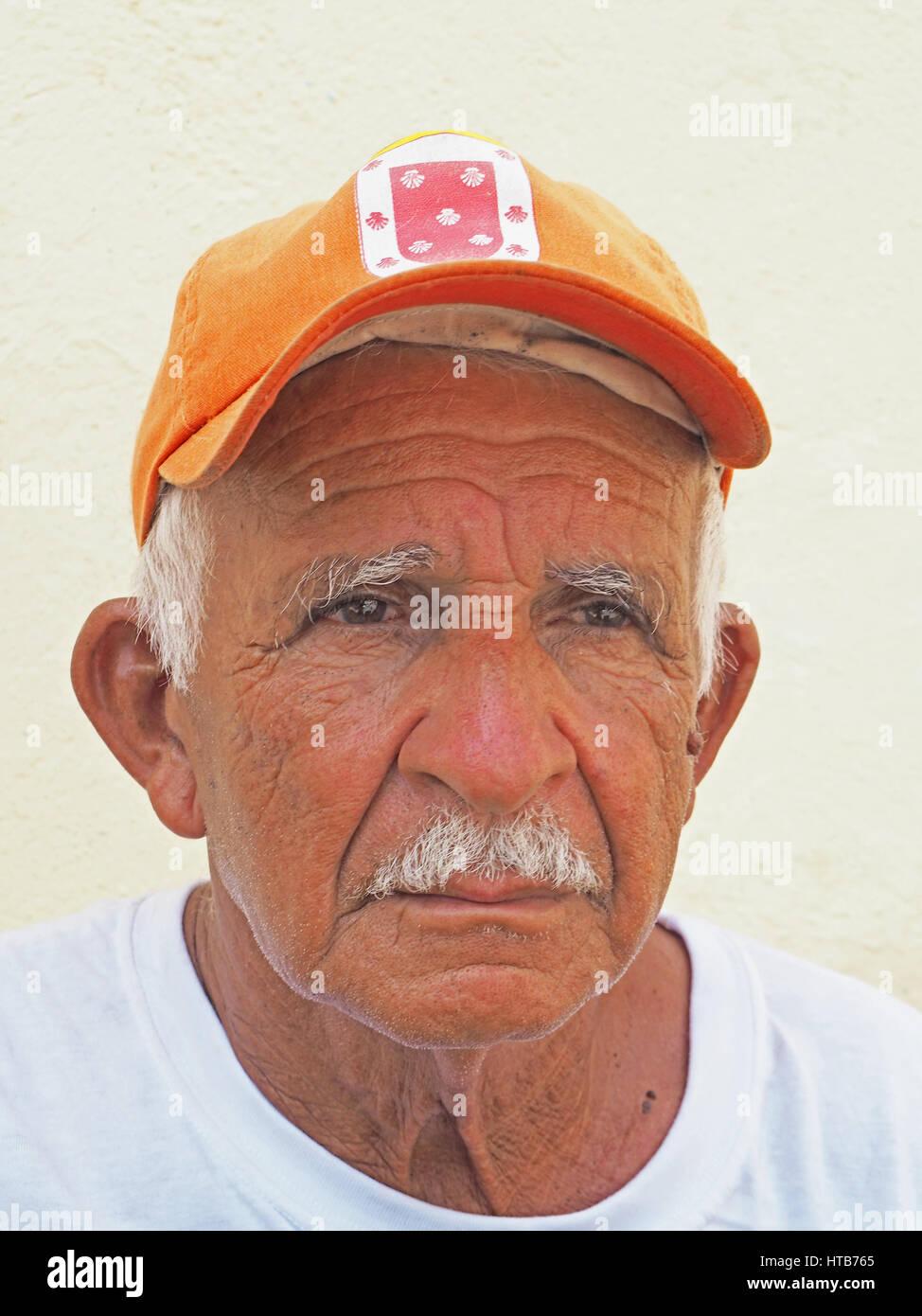 Älterer kubanischer Mann in Santiago De Cuba. Stockbild