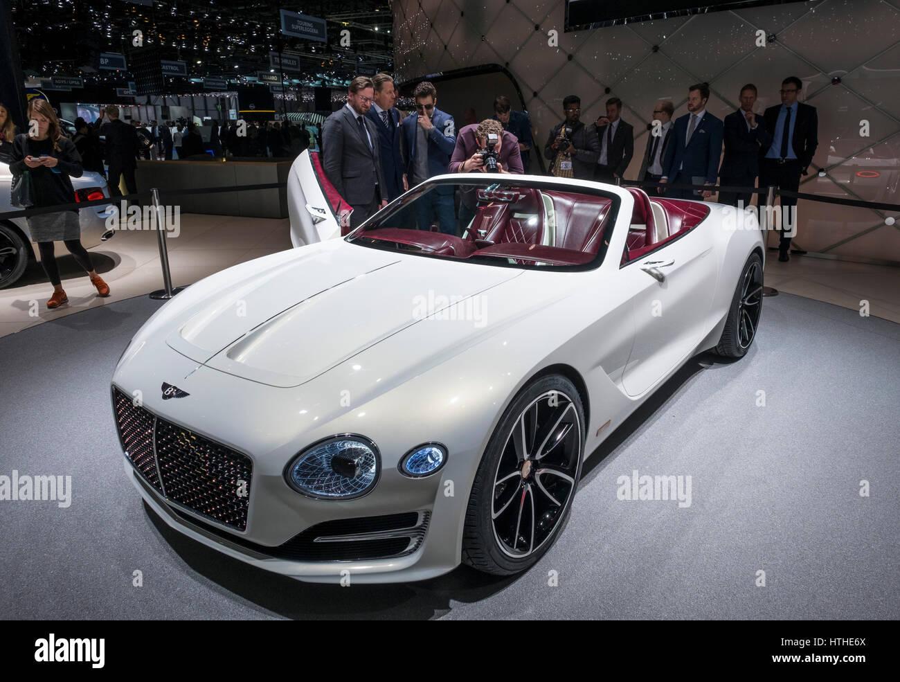 Bentley EXP 12 Speed 6e Konzept auf 87. Genfer internationalen Autosalon in Genf Schweiz 2017 Stockbild