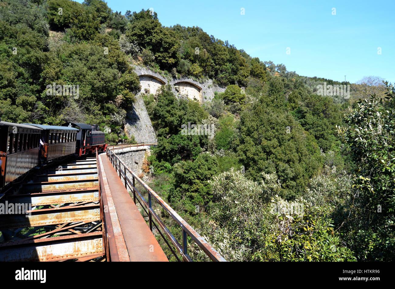 Pilionbahn, Griechenland Stockbild