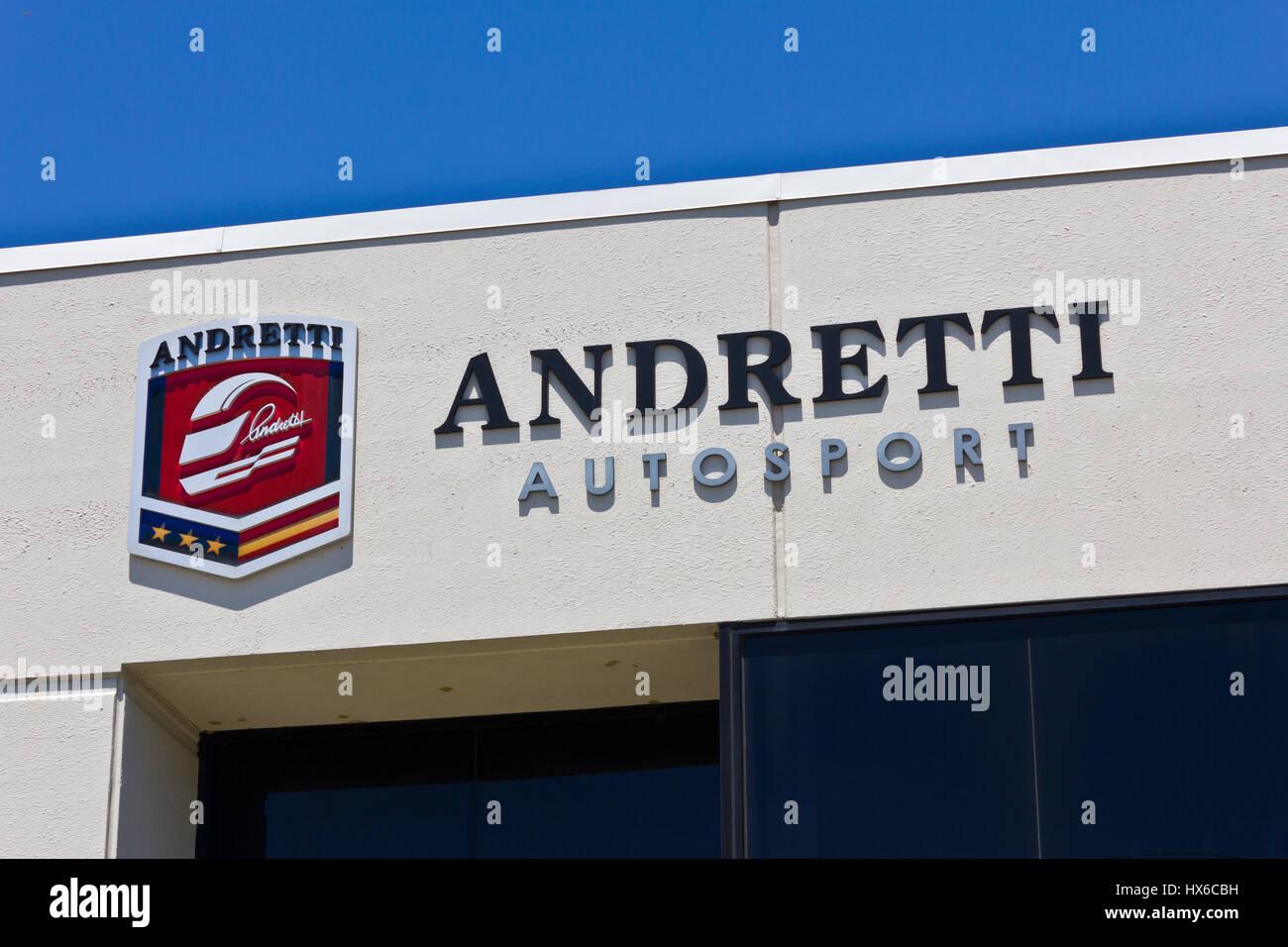 Indianapolis - ca. Juni 2016: Andretti Autosport Hauptquartier. Andretti Autosport ist ein Racing Team ich Stockbild