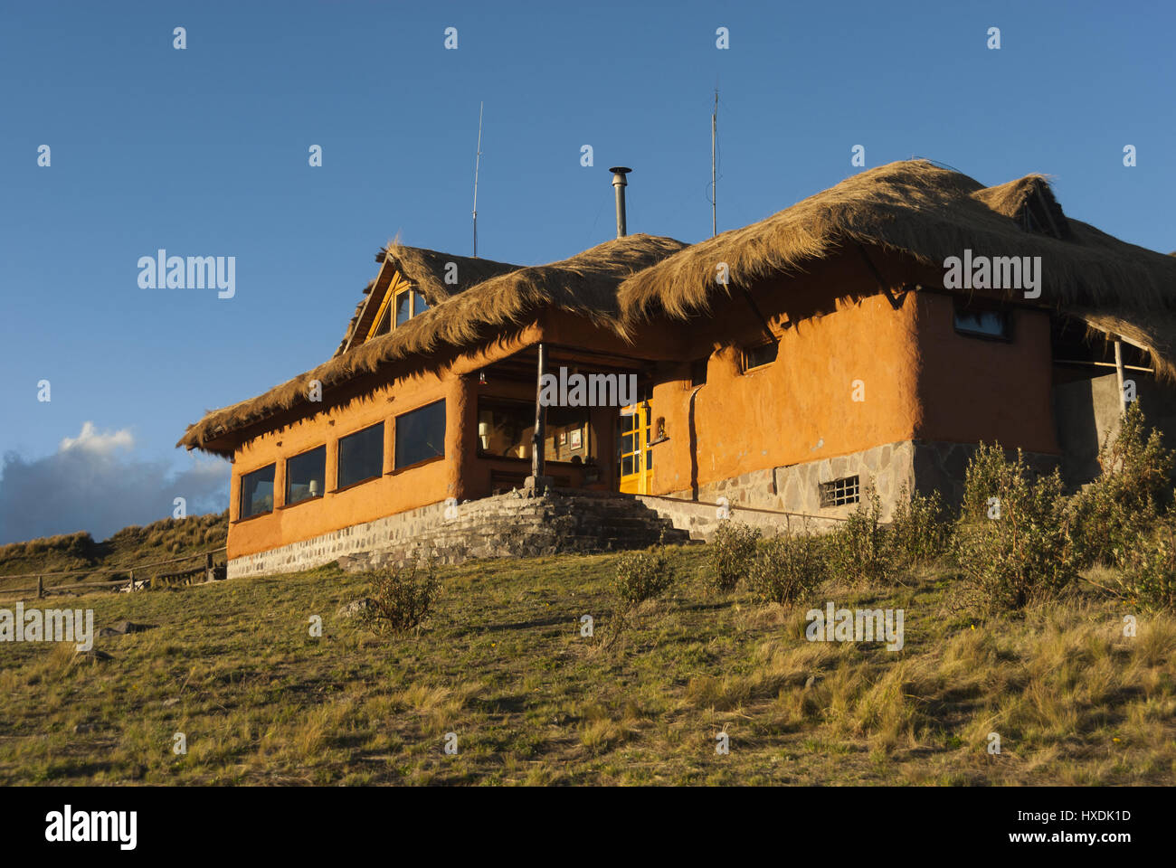 Ecuador, Cotopaxi Nationalpark, Tambopaxi Lodge Stockbild