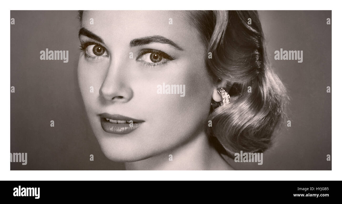 GRACE KELLY PORTRAIT 1950 A sehr beliebten Schauspielerin in den 1950er Jahren spielte Grace Kelly in Filmen wie Stockbild