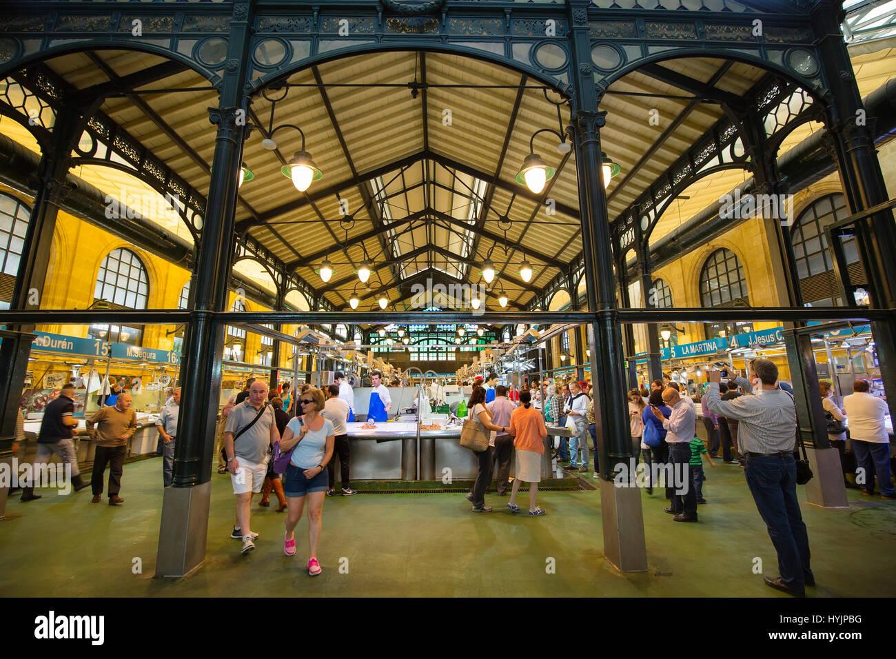 Markt. Mercado Central de Abastos, Jerez De La Frontera, Cadiz Provinz. Andalusien Südspanien, Europa Stockbild