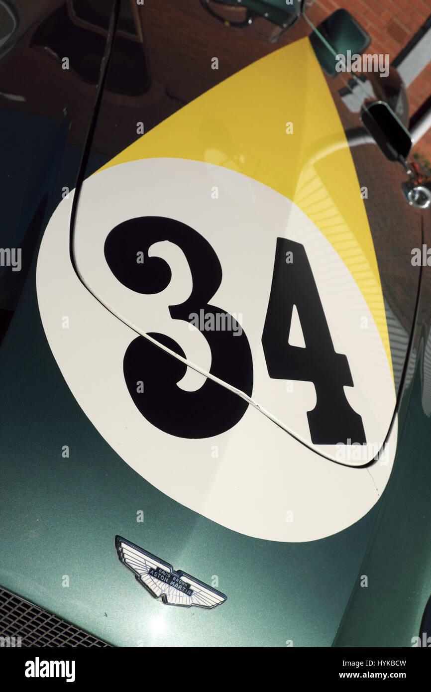 Aston Martin DB3S Motorsport-Auto Stockbild