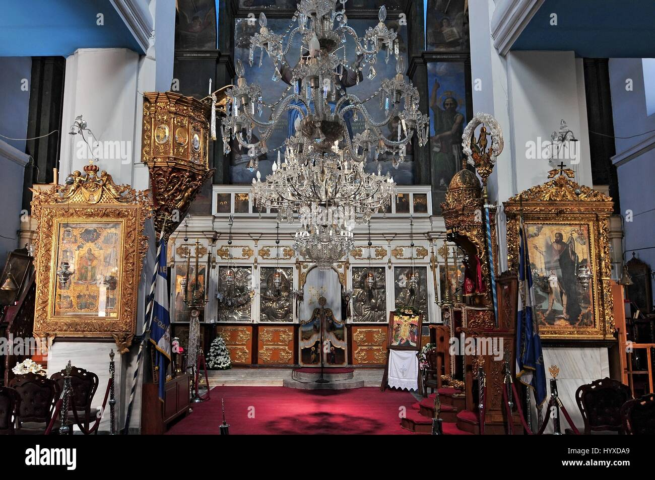 inside orthodox cathedral chania crete stockfotos inside. Black Bedroom Furniture Sets. Home Design Ideas
