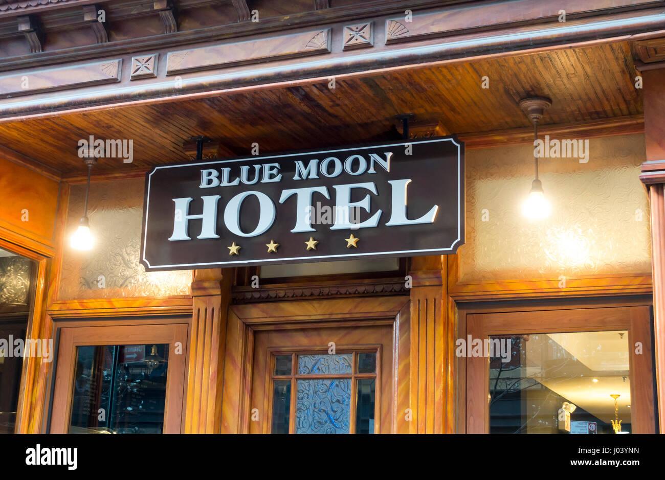 Blue Moon Boutique Hotel in der Lower East Side in Manhattan Stockbild