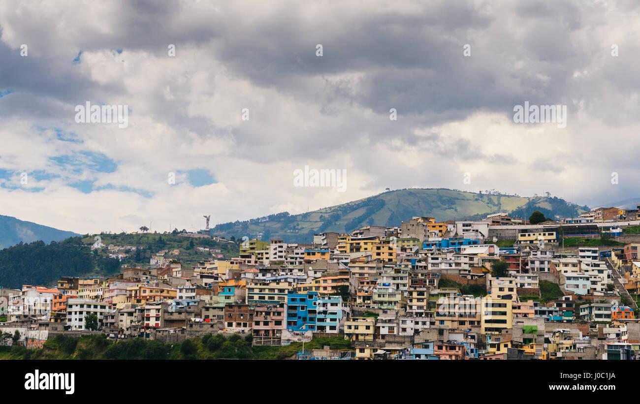 Stadtbild von Quito, Ecuador Stockbild