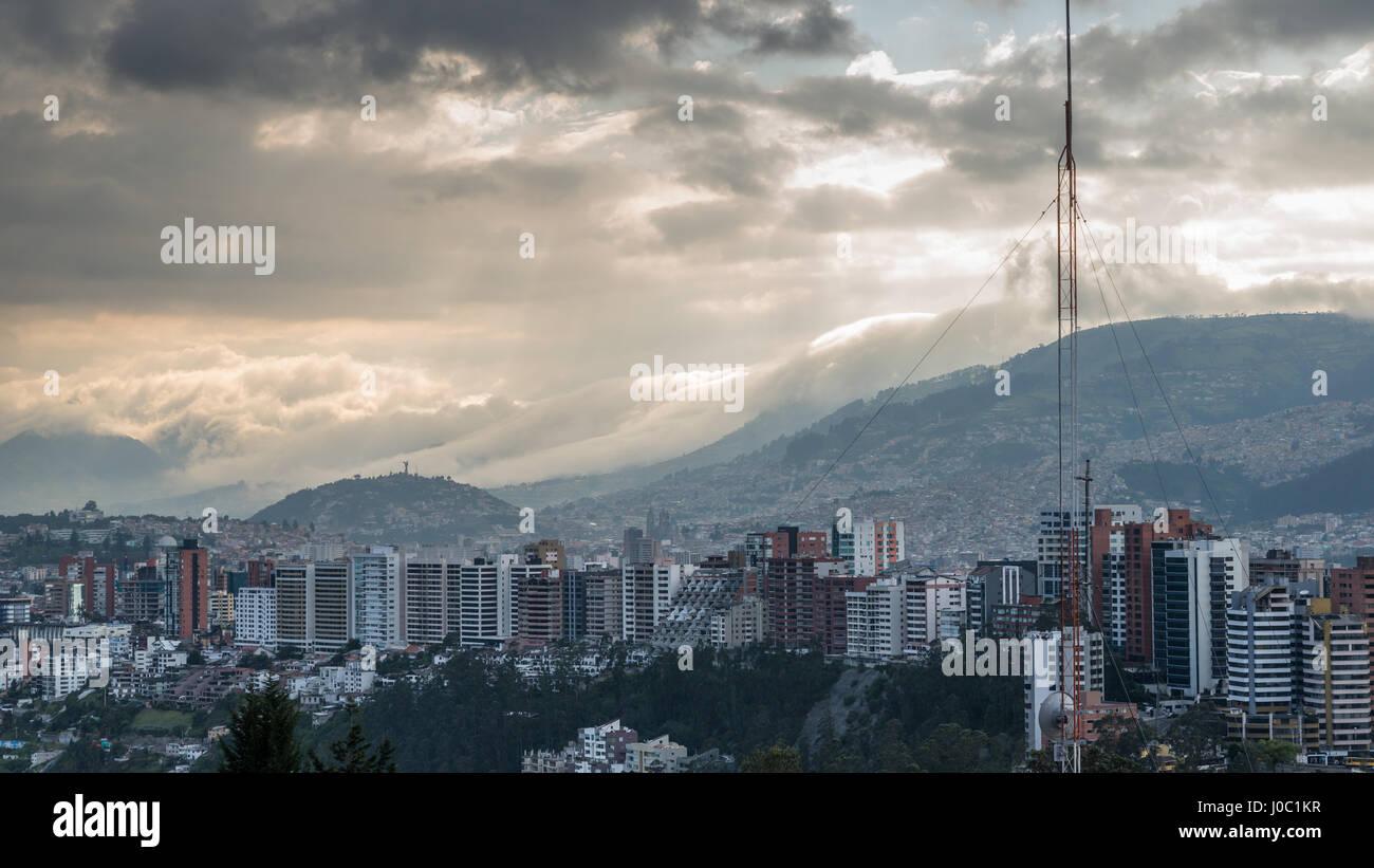 Stadtbild, Quito, Ecuador Stockbild