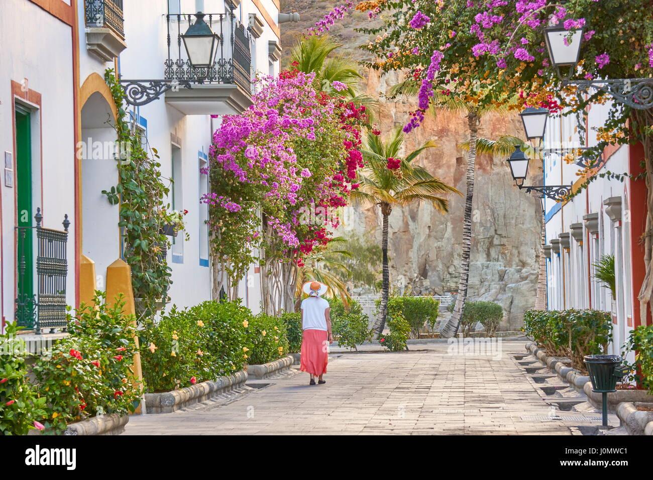 Alte Stadt von Puerto de Mogan, Kanarische Inseln, Gran Canaria, Spanien Stockfoto