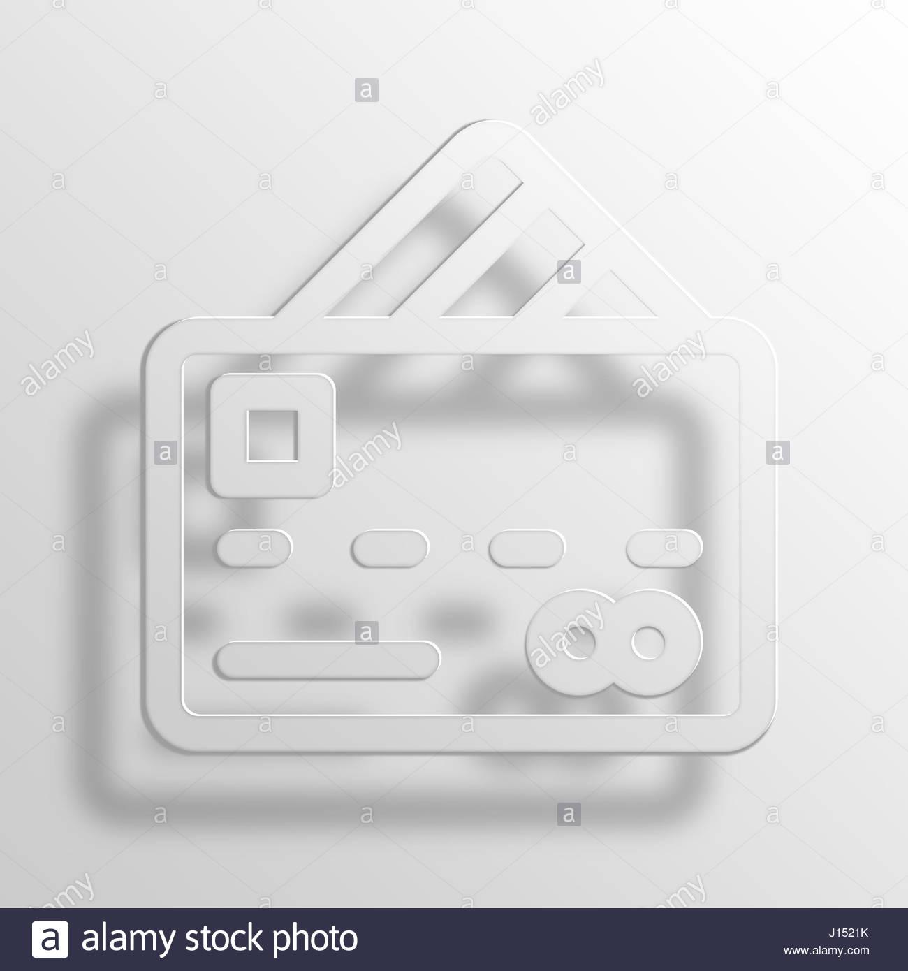 Kreditkarte 3D Paper Icon Symbol Business Konzept No.10352 Stockbild