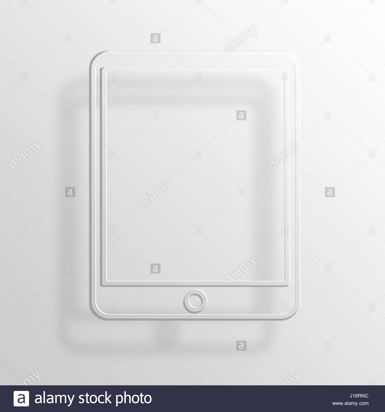 Tablet-3D Paper Icon Symbol Business Konzept No.13322 Stockbild