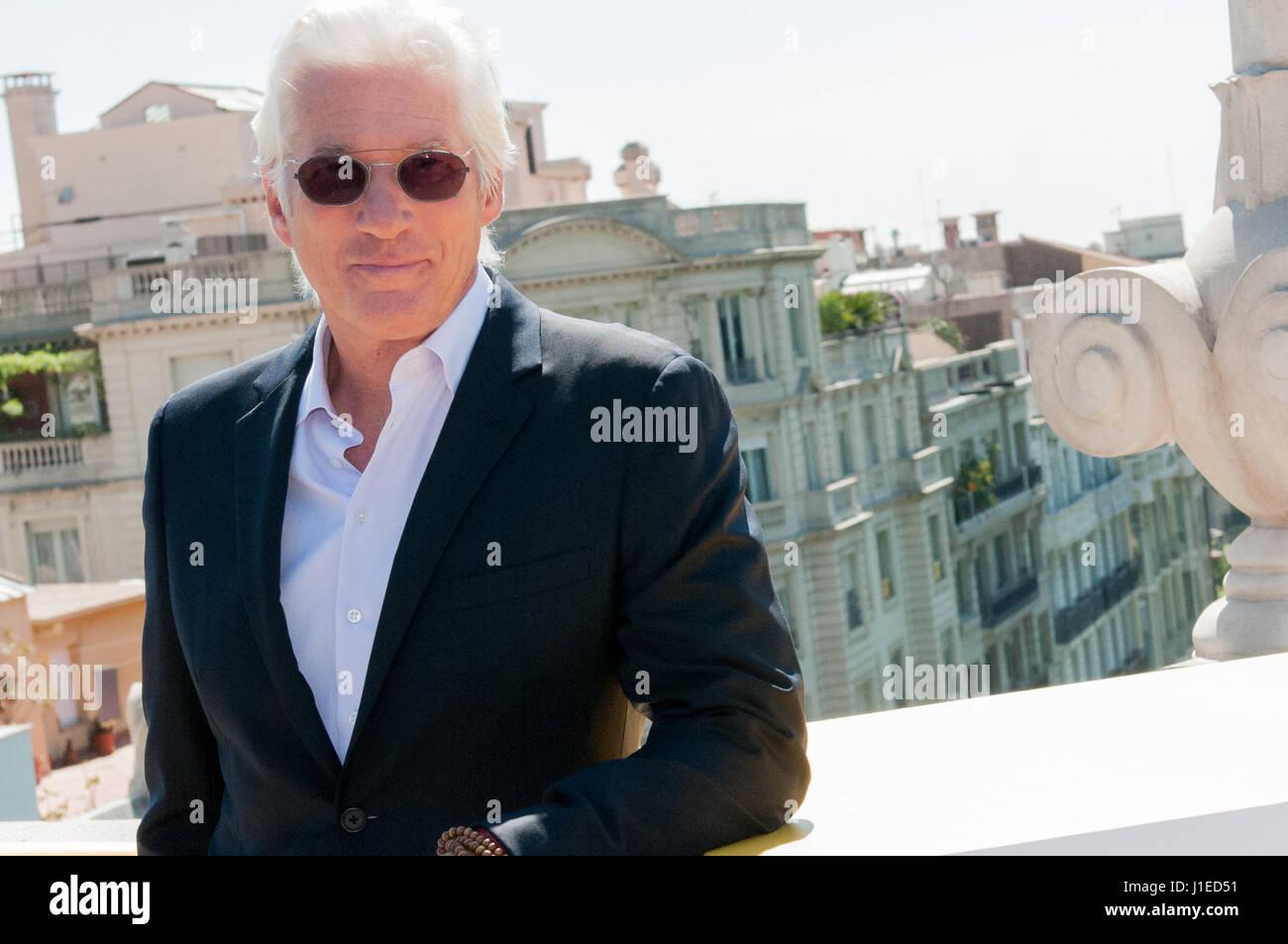 Der amerikanische Schauspieler Richard Gere und Filmregisseur Joseph Cedar öffnet das erste Filmfestival Barcelona Stockfoto