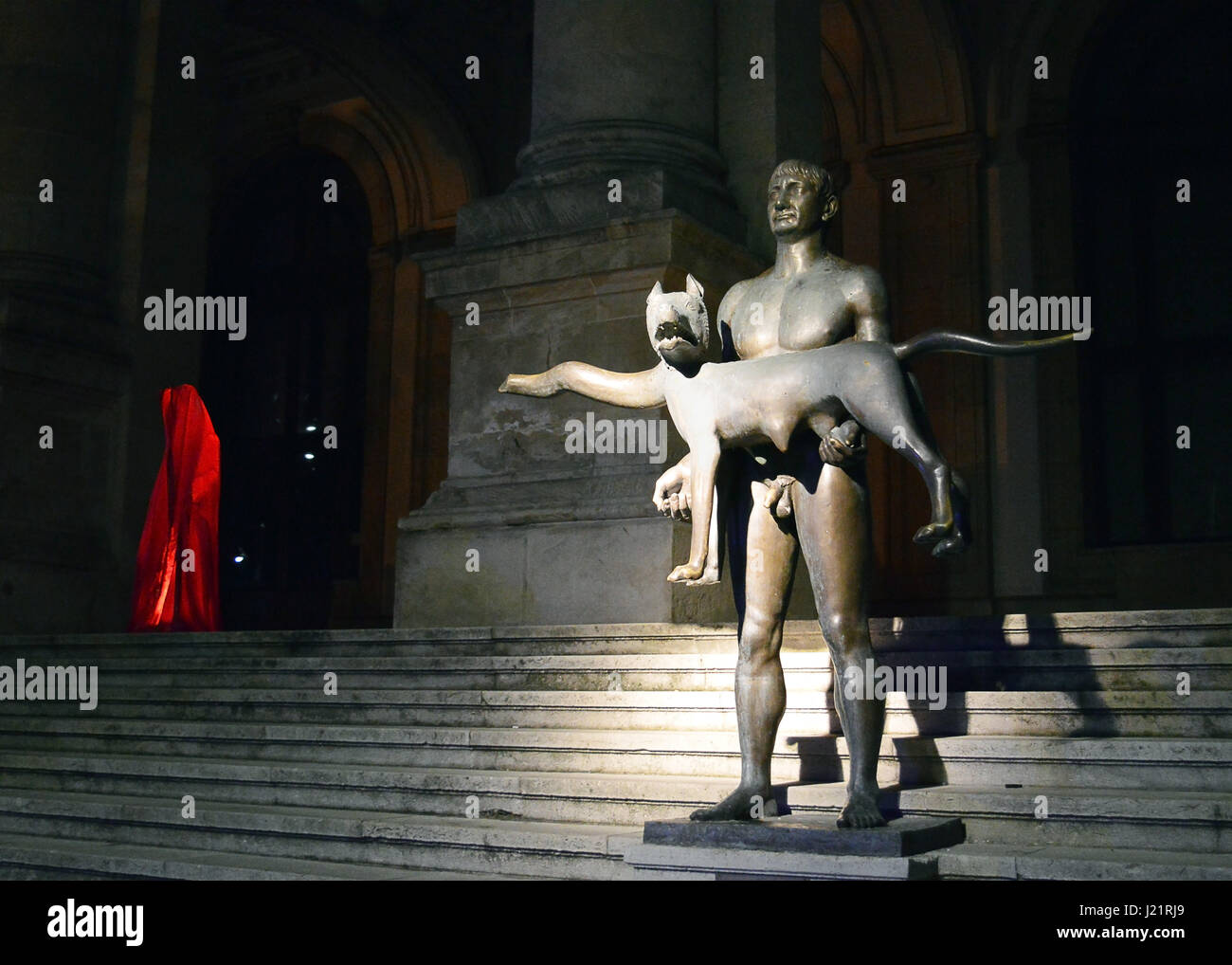 Bukarest, Rumänien. 23. April 2017. Bukarest, Rumänien - 23. April 2017: eines österreichischen Bildhauer Stockbild