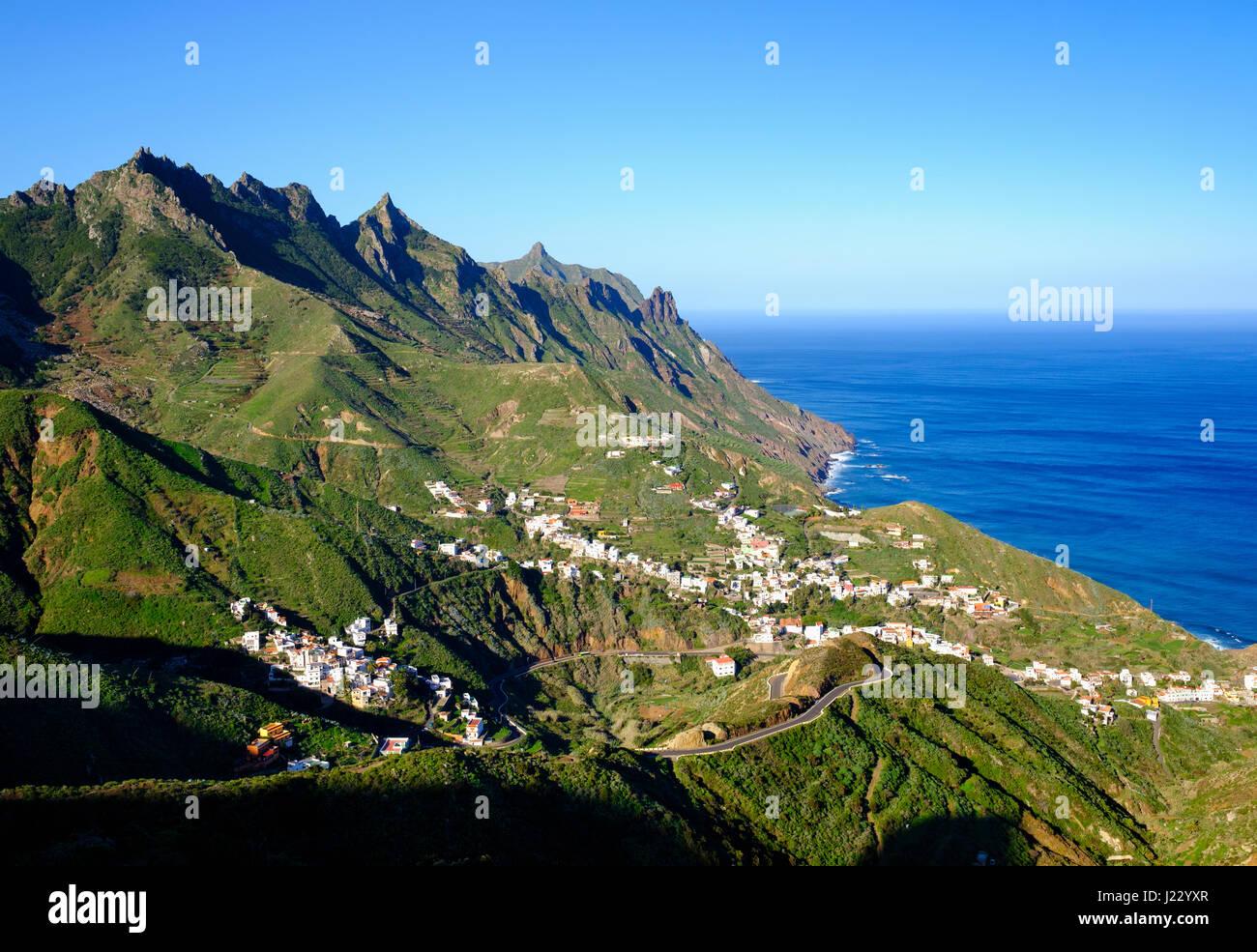 Taganana, Anaga-Gebirge, Teneriffa, Kanarische Inseln, Spanien Stockbild